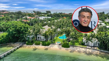 Sylvester Stallone compró una mansión en Palm Beach, Florida, por USD 35,375 millones ( The Grosby Group)