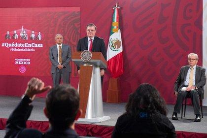 Marcelo Ebrard, titular de la SRE en conferencia de este 23 de junio (Foto: Cortesía Presidencia)