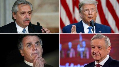 Alberto Fernández, Donald Trump, Jair Bolsonaro y Andrés Manuel López Obrador: una misma crisis, diferentes destinos