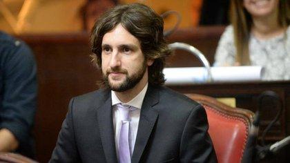 El senador Leandro Blanco, Juntos por el Cambio, vicepresidente de la comisión de Legislación general
