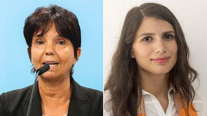 Mercedes Marcó del Pont de la AFIP y Gabriela Russo del Consejo Profesional de Ciencias Ecónómicas