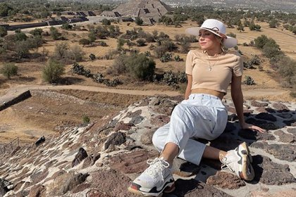 La actriz española recorrió la zona arqueológica de Teotihuacán (Foto: Instagram)
