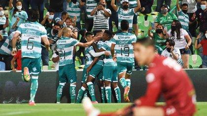 Así fueron los goles de la remontada de Santos Laguna ante Monterrey en la ida de los Cuartos de Final