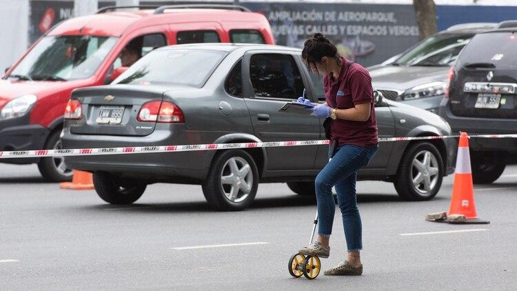 El accidente ocurrió poco antes de las 6 de la mañana (Adrián Escandar)