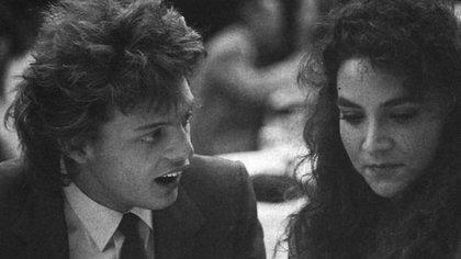 Luis Miguel y Mariana Yazbek en 1987, cuando eran pareja en la adolescencia (Foto: Especial)