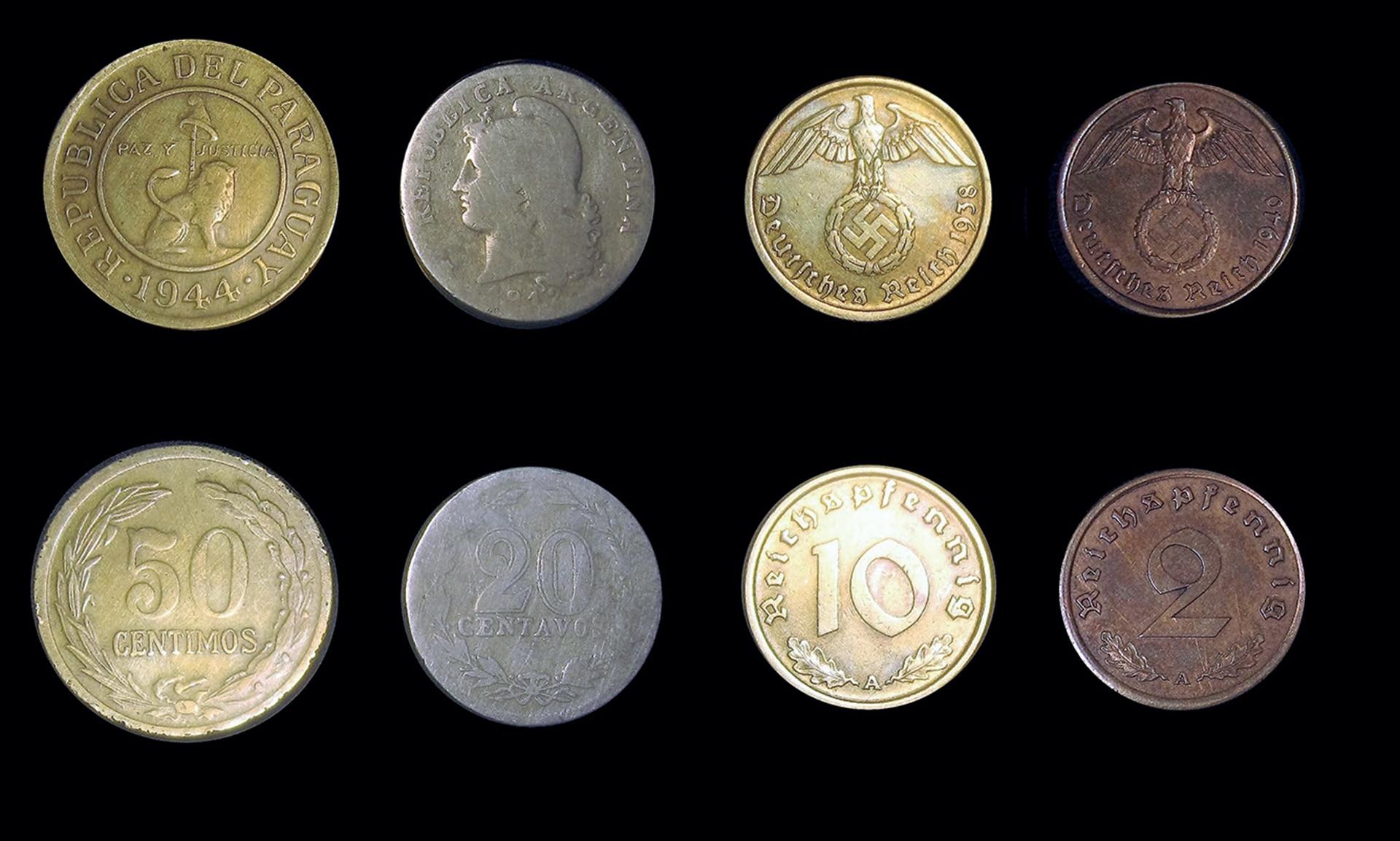 Parte de la colección de monedas encontradas