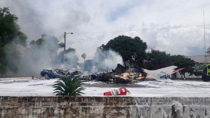 Una avioneta se estrelló en Paraguay
