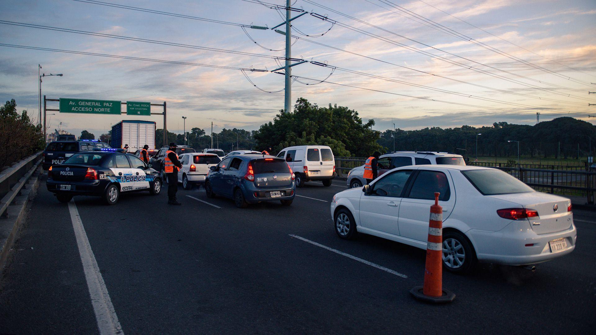 Control de tránsito en Puente La Noria