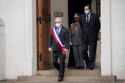 Toma de la fotografía oficial del gabinete de ministros del gobierno de Chile