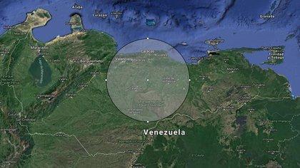 El alcance aproximado del S-300 desplegado en la base aérea Capitán Manuel Ríos
