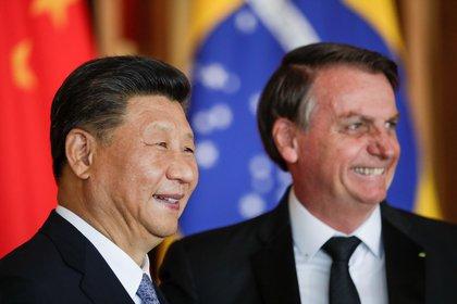 Xi Jinping y Jair Bolsonaro (Reuters)