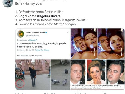 También hubo bromas en Twitter inspiradas en Angélica Rivera y Beatriz Gutiérrez