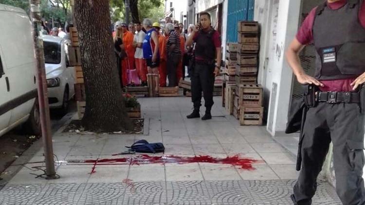 Así terminó la vereda luego del tiroteo (Diario Crónica)