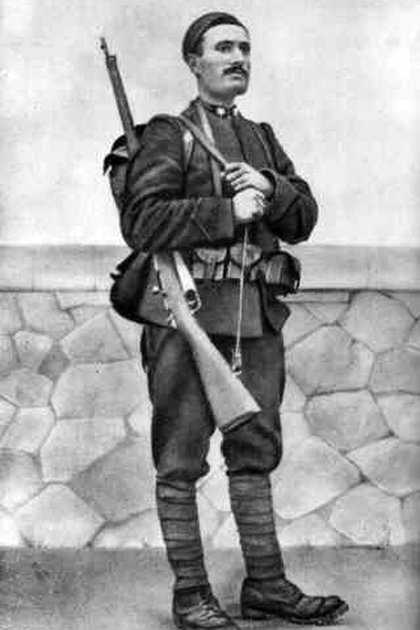Benito Mussolini como soldado del ejército italiano en la Primera Guerra Mundial. (Wikipedia)