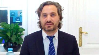 Santiago Cafiero, este jueves, ante el Council of The Americas