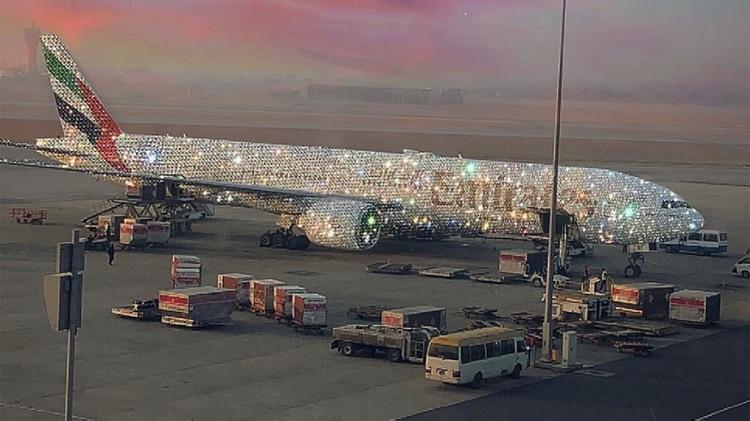 """El """"Bling 777"""" de Emirates (Instagram: @sarashakeel)"""