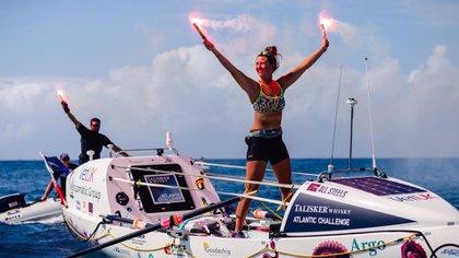 La atleta completó la travesía en 70 días, 3 horas y 48 minutos (@ACampaigns)