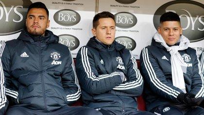 Marcos Rojo no es una de las prioridades del entrenador y podría alejarse del Manchester United (Grosby Group)