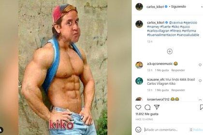 """El actor compartió un cómico fotomontaje que resaltó el cuerpo ideal para su personaje """"Kiko"""". (Foto: Instagram de Carlos Villagrán)"""