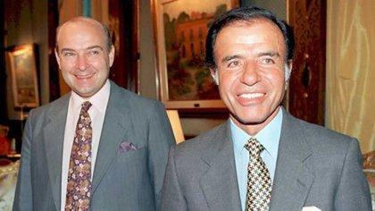 Domingo Cavallo y Carlos Menem (Foto: AFP)