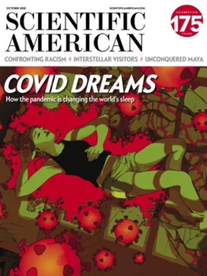 La portada del numero de octubre de la revista Scientific American