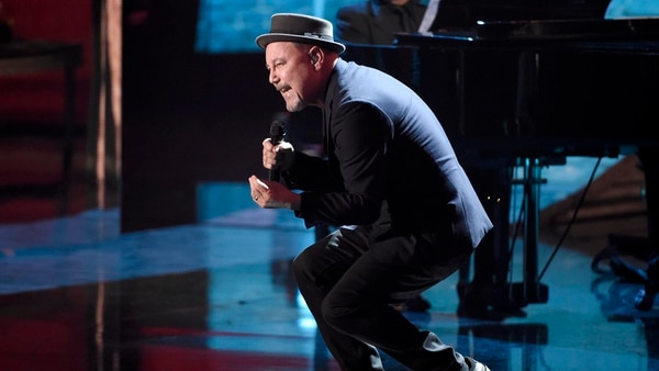 "Ruben Blades performs ""Arayue"" at the 18th annual Latin Grammy Awards at the MGM Grand Garden Arena on Thursday, Nov. 16, 2017, in Las Vegas. (Photo by Chris Pizzello/Invision/AP)"