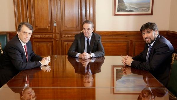 Pablo Kosiner, Miguel Ángel Pichetto y Diego Bossio, tres de los principales legisladores de Argentina Federal