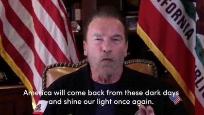 Foto tomada de un vide del exgobernador de California Arnold Schwarzenegger hablando sobre el ataque al Capitolio. Ene 9, 2021. Crtédito obligatorio: ARNOLD SCHWARZENEGGER/via REUTERS ATENCIÓN EDITORES, PROHIBIDA SU REVENTA O SU USO COMO ARCHIVO
