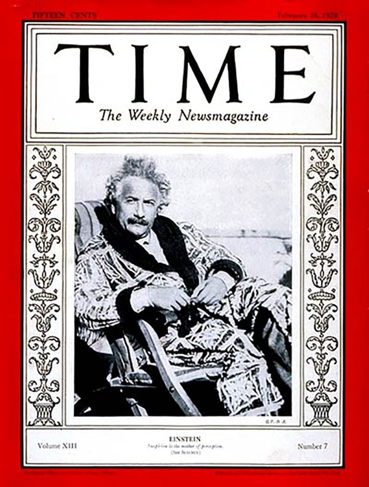 Albert Einstein, en la portada de la revista Time