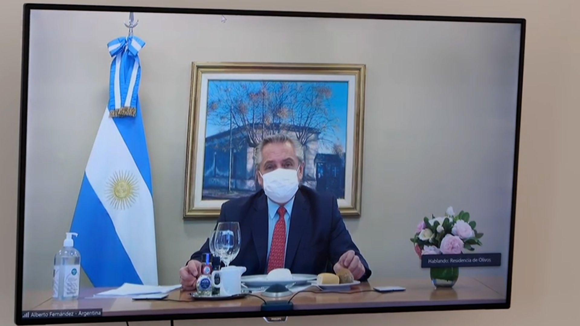 Juan González, almuerzo con Alberto Fernandez Olivos