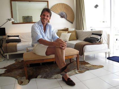 En su casa de Punta del Este, donde cada verano se instala cerca de tres meses.