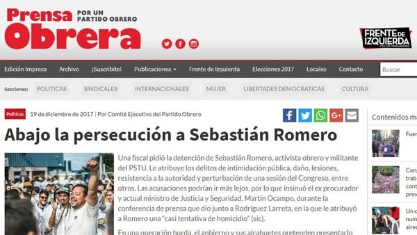 """En el comunicado de la prensa Obrera hablan de """"persecución"""" y """"criminalización"""""""