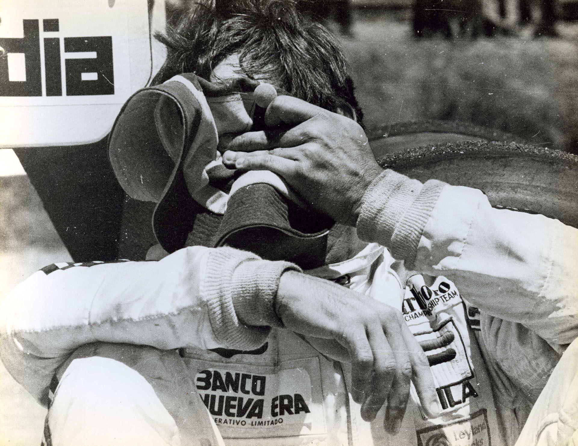 Otra de ese día en el Autódromo, cuando no tuvo consuelo ya que quería ganar de local (Gentileza Alejandro de Brito)