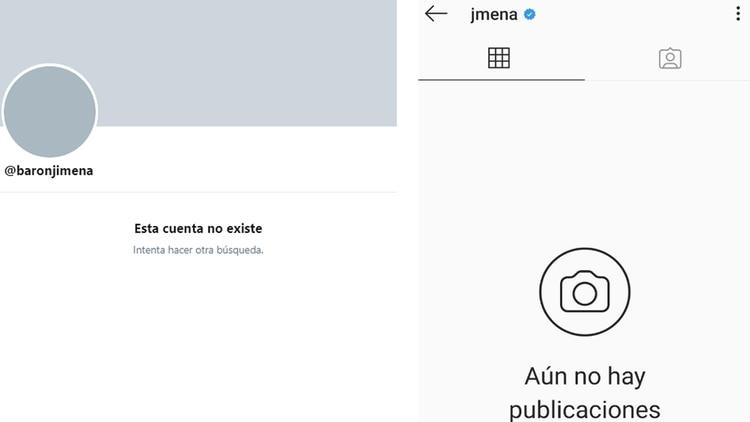 Capturas del cierre de cuentas de Jimena