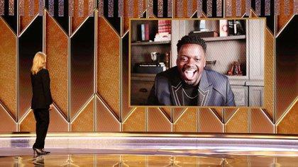 El actor pudo conectar su audio justo a tiempo para dar el discurso (Foto: Reuters)