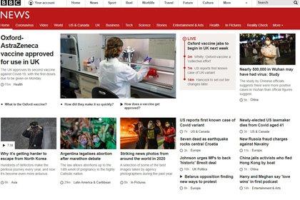 La BBC, del Reino Unido