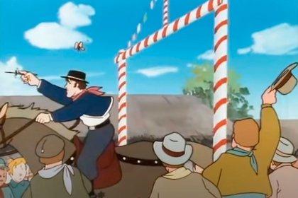 Una carrera de sortijas en el animé japonés