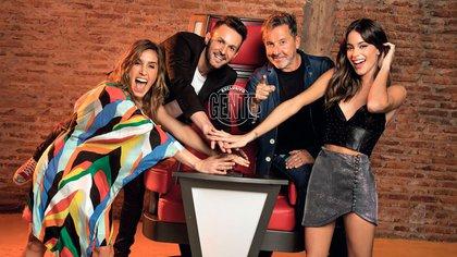 Desde que empezaron a grabar en agosto La Voz, los cuatro pegaron muy buena onda. Eso se reflejó en los 20 puntos de rating que tuvieron ya en el debut.