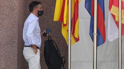 El ex presidente del Barcelona Josep Maria Bartomeu pasó la noche detenido (Foto: Reuters)