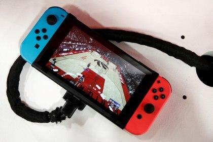 Una Nintendo Switch en Paris Games Week (PGW), la feria de videojuegos, en 2019 (REUTERS/Benoit Tessier/File Photo)