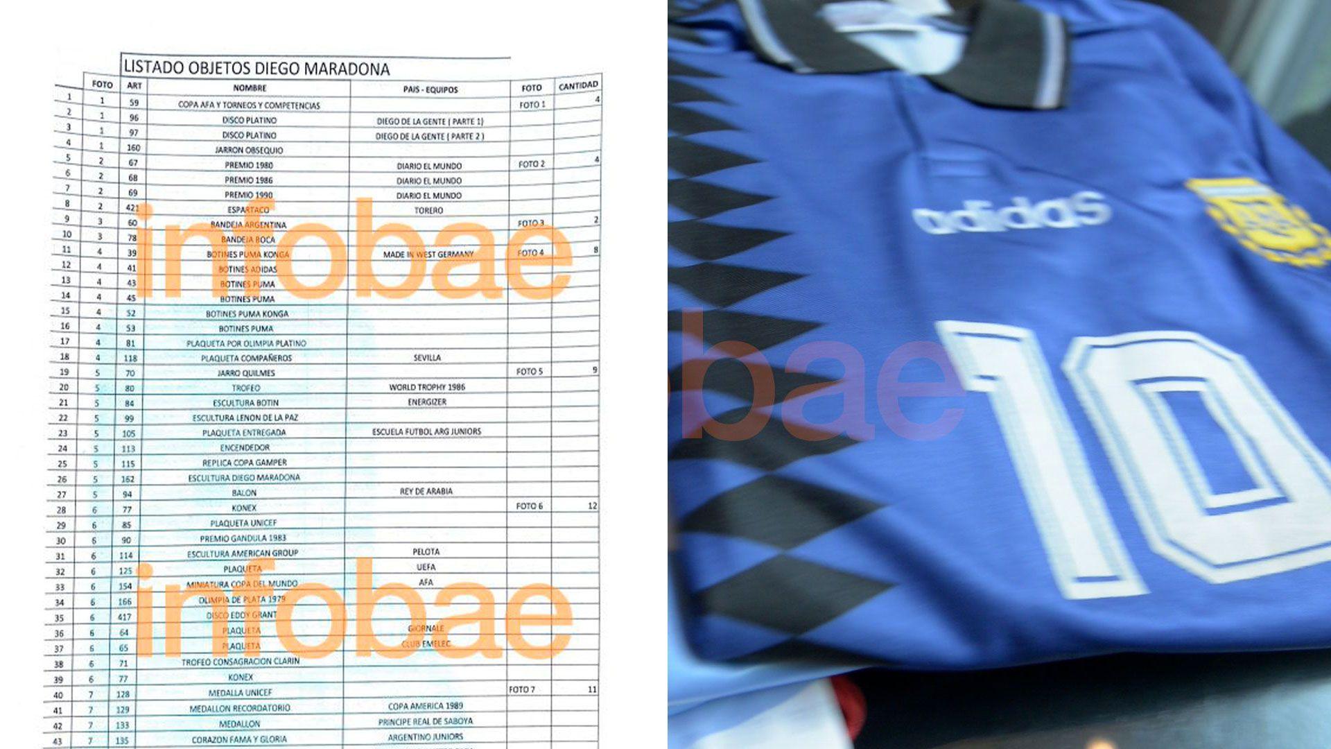las camisetas de Maradona en disputa