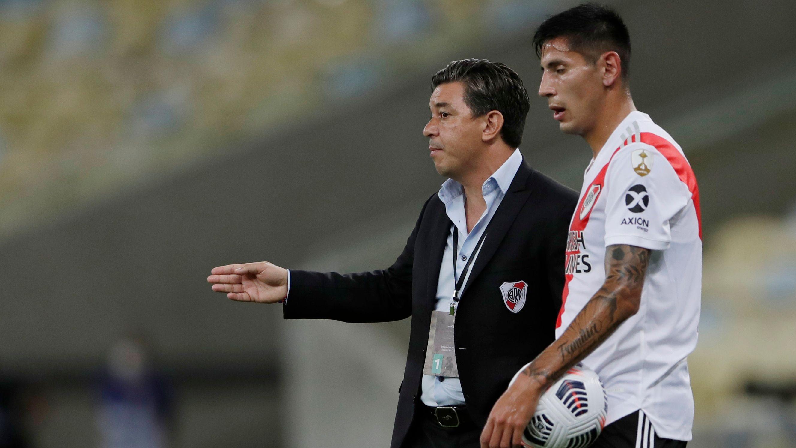 Fabrizio Angileri es clave para Marcelo Gallardo (REUTERS/Silvia Izquierdo)