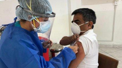 Perú comenzó la vacunación (Hospital Arzobispo Loayza)