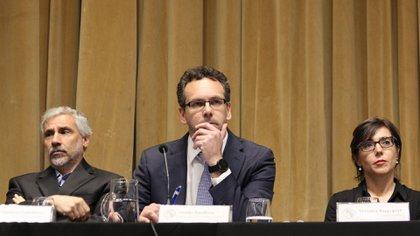 Guido Sandleris (centro), presidente del Banco Central (Matías Baglietto)