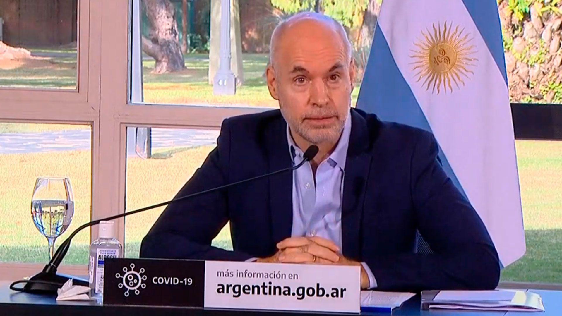 Anuncio Alberto Fernandez, Rodriguez Larreta y Kicillof - extension cuarentena - Olivos - 26 de junio 2020