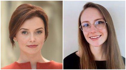 Lindsey Boylan y Charlotte Bennett, ex funcionarias que acusaron a Cuomo de acoso sexual