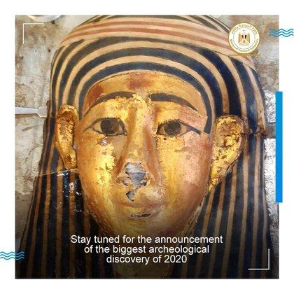Entre los hallazgos hay máscaras de oro perfectamente conservadas