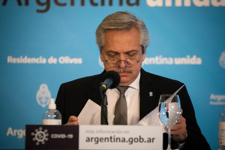 El presidente Alberto Fernández anunció la extensión de la cuarentena hasta el 7 de junio. (Franco Fafasuli)