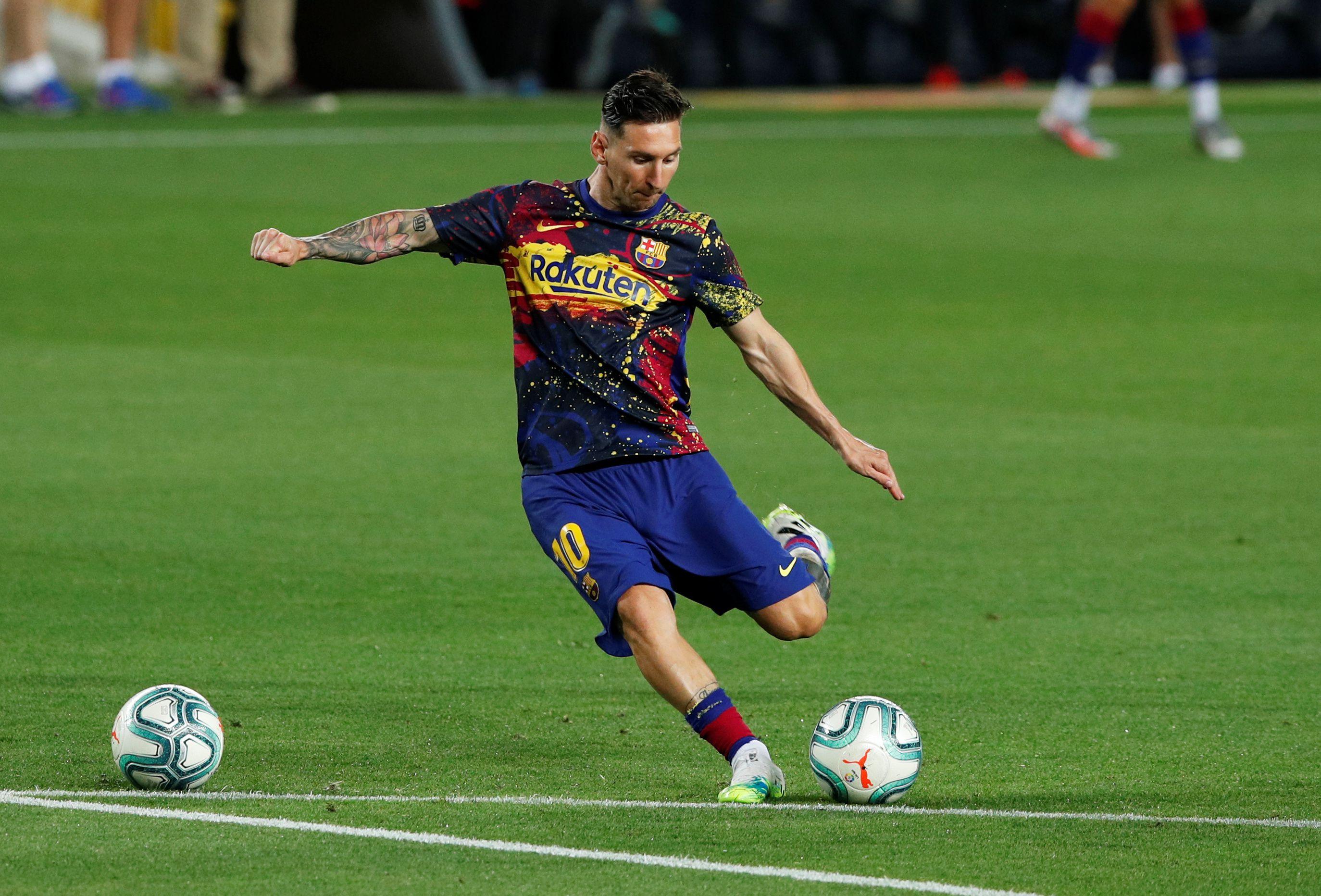 Setién habló sobre la situación de Lionel Messi (REUTERS/Albert Gea)