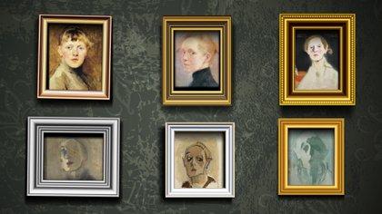 Autorretratos realizados a lo largo de su vida donde se ve, no sólo el paso del tiempo, también la parábola de su estilo